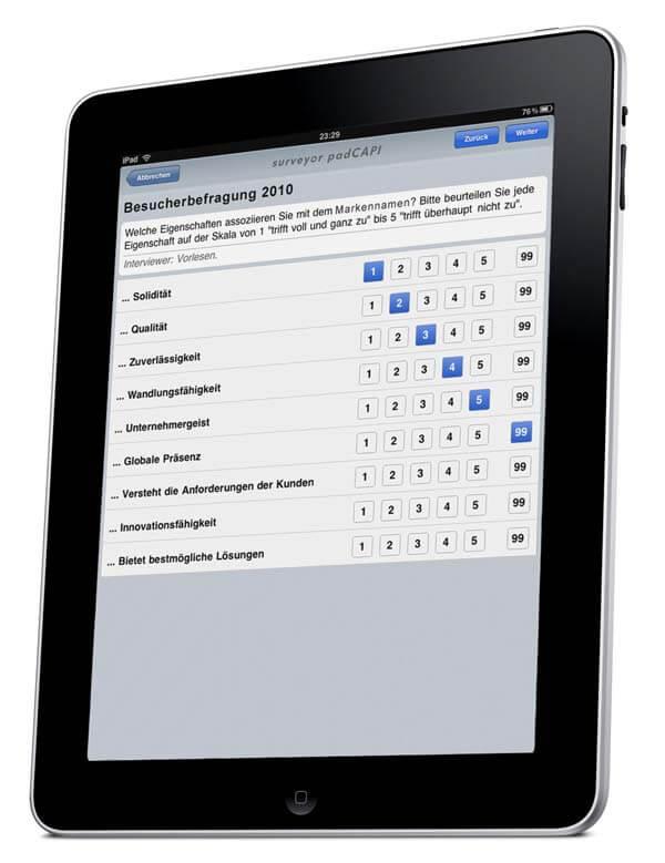 iPad für persönliche Befragung